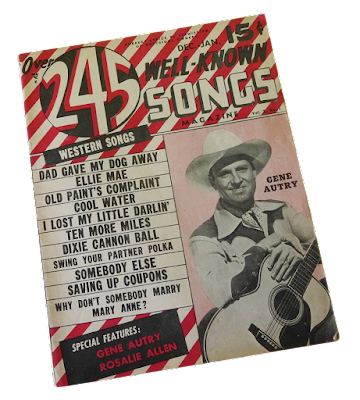 A vintage song magazine for country music featuring Gene Autry.
