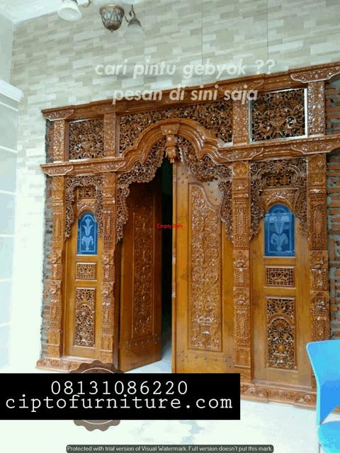 Desain RUmah Pintu Gebyok Mewah Cantik