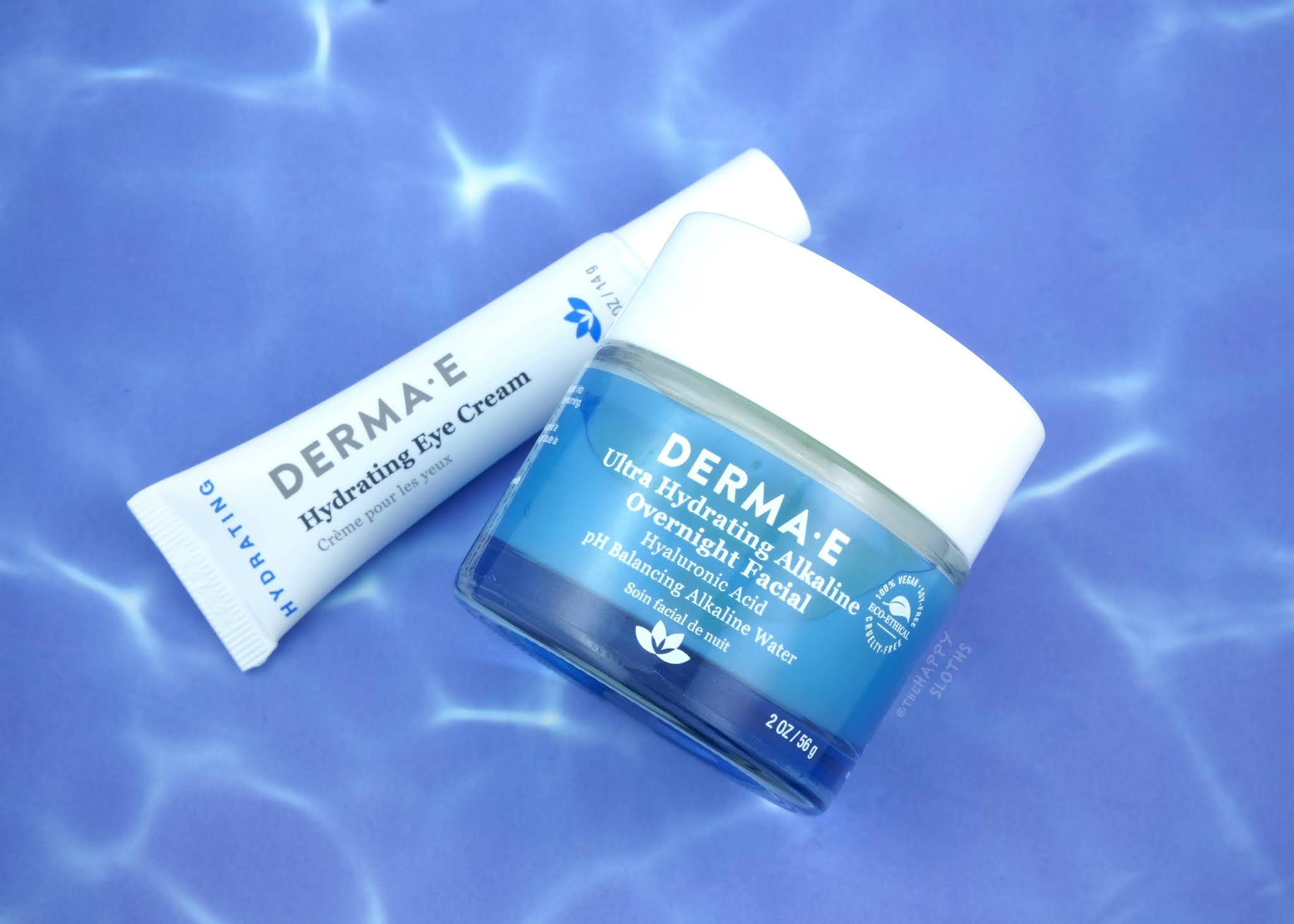 Derma E | Hydrating Eye Cream & Ultra Hydrating Alkaline Overnight Facial: Review