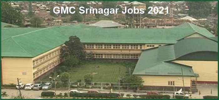 GMC Srinagar Recruitment 2021 – Nursing Staff Positions, Application Form