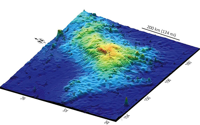 Imagem 3D com o map do vulcão