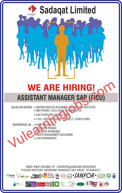 Sadaqat Limited Jobs 2020 For Assistant Manager, Documentation Officer Latest