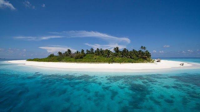 Paradise under the ocean in the Maldives