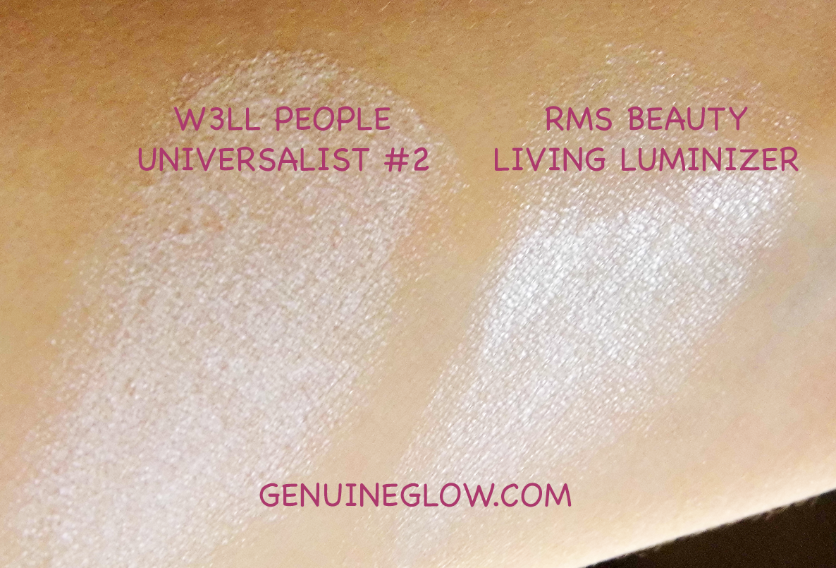 Genuine Glow: Highlighters Comparison and Swatches: RMS