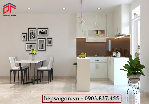 tu bep, tủ bếp hiện đại, tủ bếp acrylic, tủ bếp thông minh
