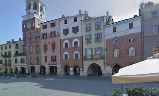 The Piazza Santarosa in Savigliano