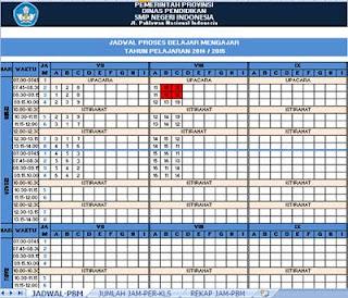 Aplikasi Jadwal Pelajaran Berbasis Excel