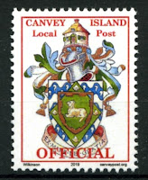 Canvey Local Post Coat of Arms Official Mail Stamp