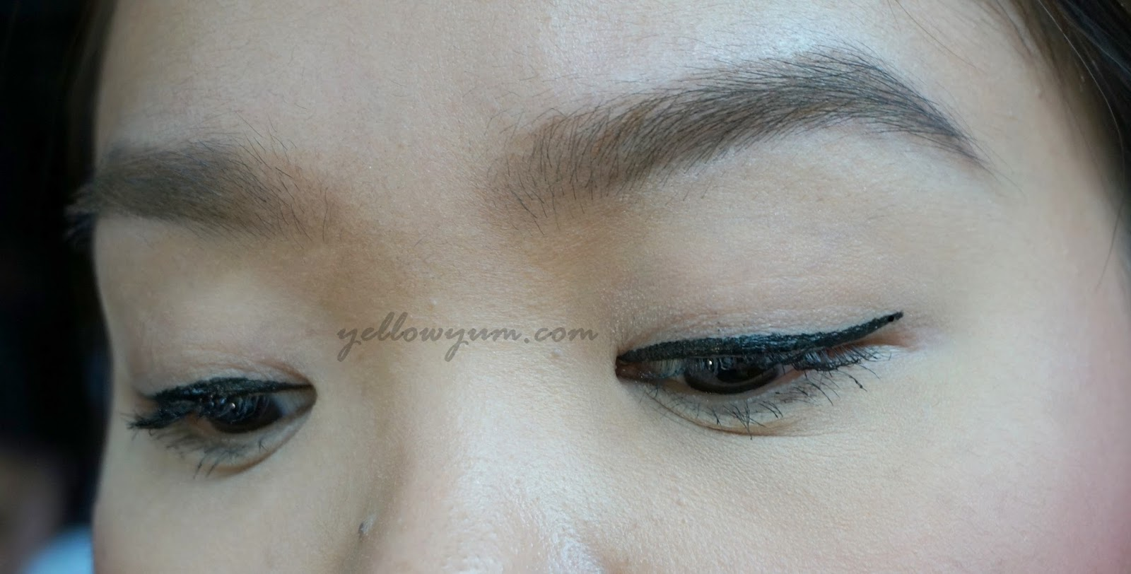 Fierce It Up With Maybelline Hyperink Liner Yellow Yum Hyper Ink Liquid And Heres What Looks After Using The Totally Fierced