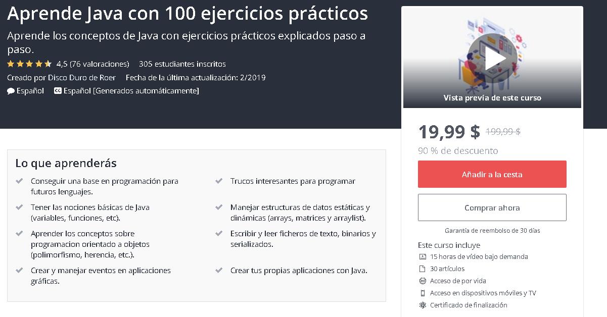 Eliot Pest Aprende Java Con 100 Ejercicios Prácticos