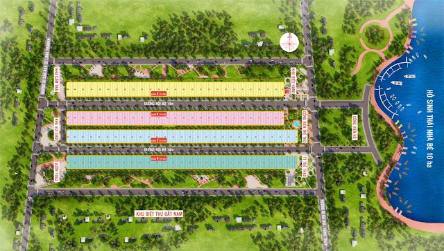 Mặt bằng thiết kế dự án đất nền Phú Mỹ Future City Bà Rịa - Vũng Tàu