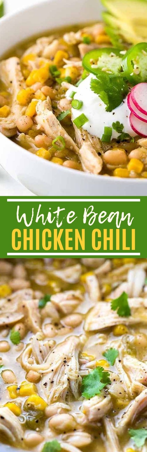 White Bean Chicken Chili #healthy #soup
