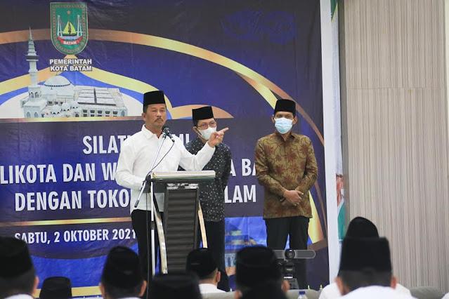 Rudi Hadiri Pengukuhan dan Raker MUI Kota Batam Masa khidmat 2021-2026