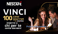 Logo Con Nescafé : vinci subito una delle 100 cene Gourmet by Smartbox