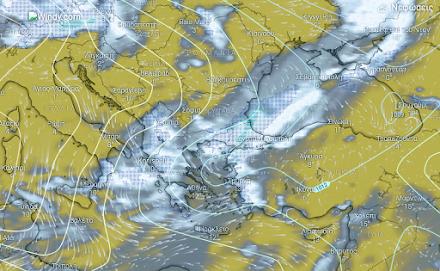 Τοπικές βροχές στα δυτικά, κεντρικά και βόρεια - Παροδικές χιονοπτώσεις από τη νύχτα στα ορεινά της κεντρικής και βόρειας Ελλάδας