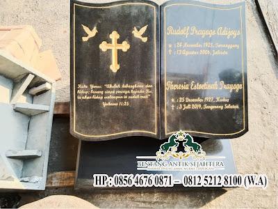 Nisan Batu Alam, Model Nisan Buku Granit Kristen