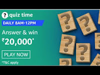 Amazon Quiz Time Daily @ 8AM-12PM on 15 Feb 2021