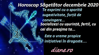 Horoscop Săgetător decembrie 2020