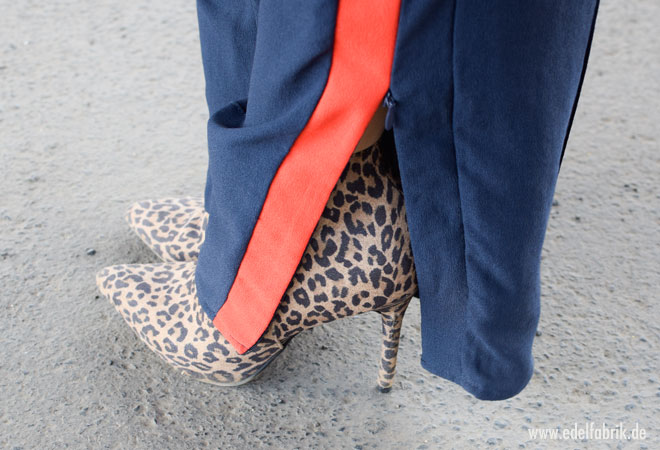 HIgh Heels mit Animalprint, Stiefelette in Leo Optik