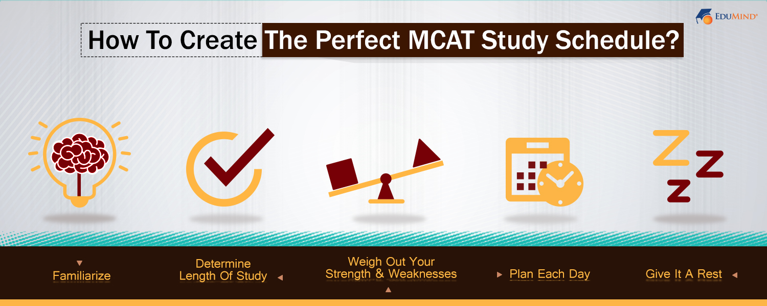 how to create the perfect mcat study schedule?: edumind - graduate