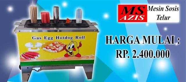 Spesifikasi Mesin Sosis Telur Gas 10 Lubang