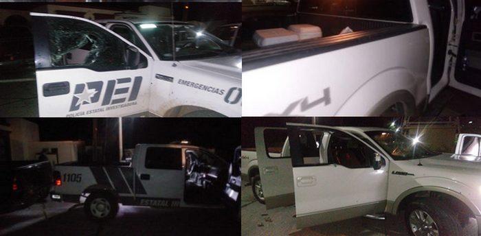 Convoy de empecherados atacan y descargan fuerte arsenal en Palacio Municipal de Mazatán, Sonora, sicarios se dan a la fuga