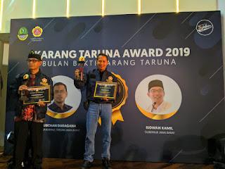 Camat Dan Kuwu Indramayu Raih Karang Taruna Award 2019