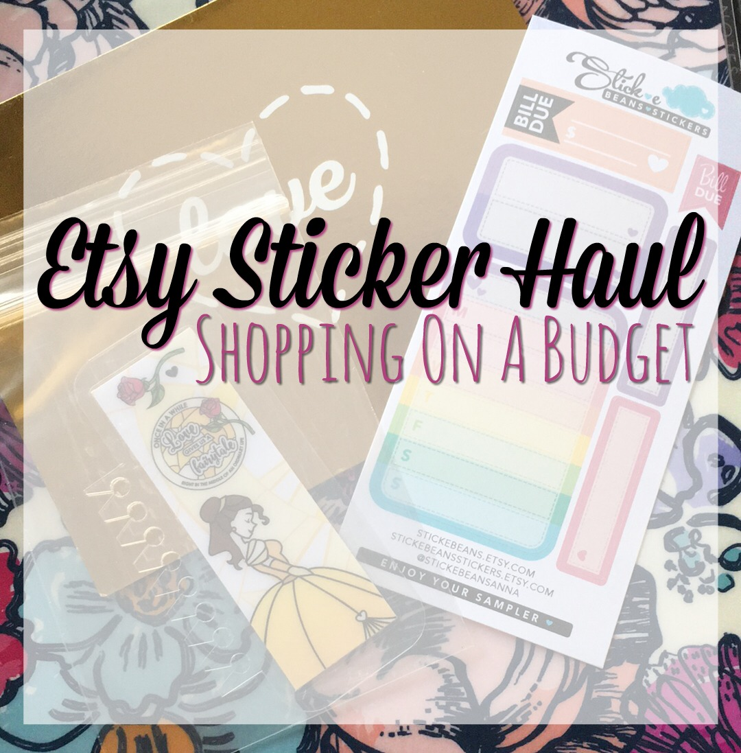 Etsy Sticker Haul