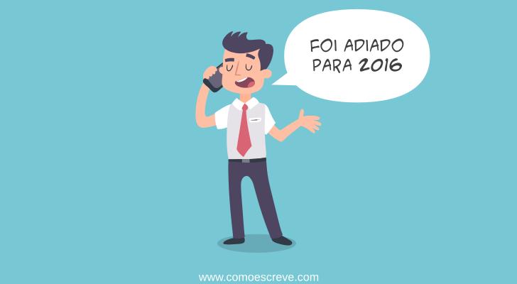 Uso do Novo Acordo Ortográfico adiado para 2016