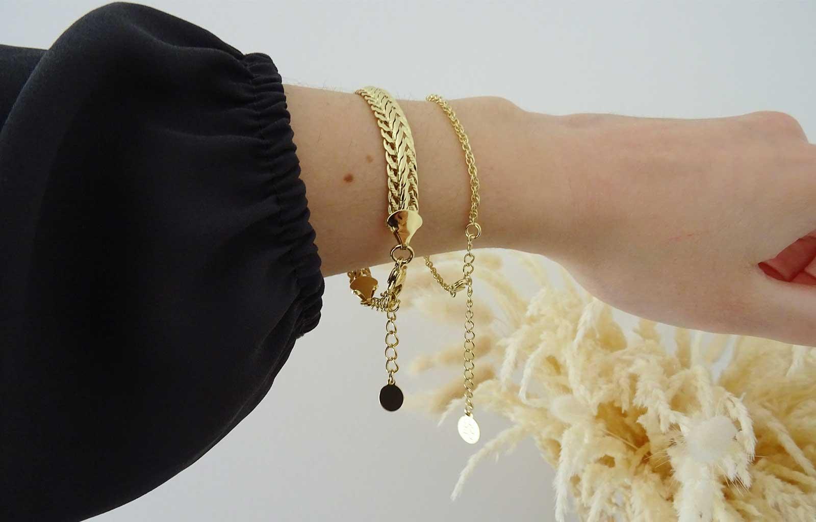 Emma&Chloé box moonlight bracelets chaîne ara et rana