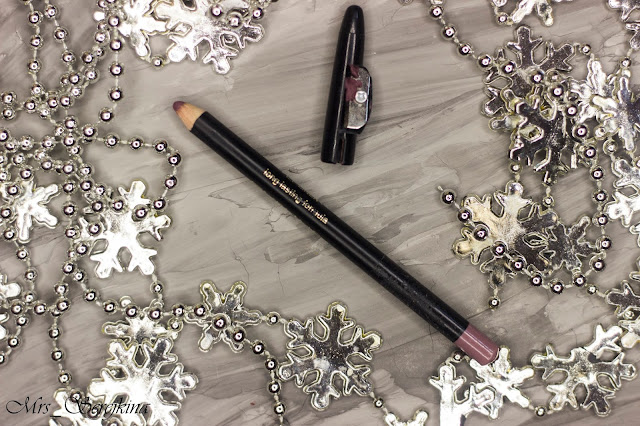 New year make-up 2018, step 15: Eveline Max Intense Colour Lip Liner 18 Light Plum