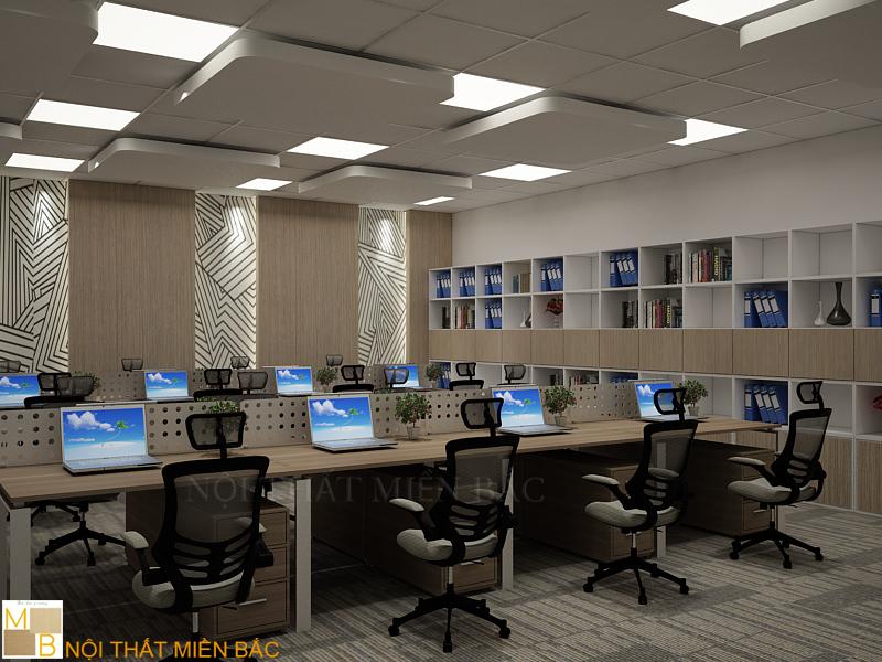 Sử dụng vách ngăn văn phòng trong thiết kế phòng làm việc