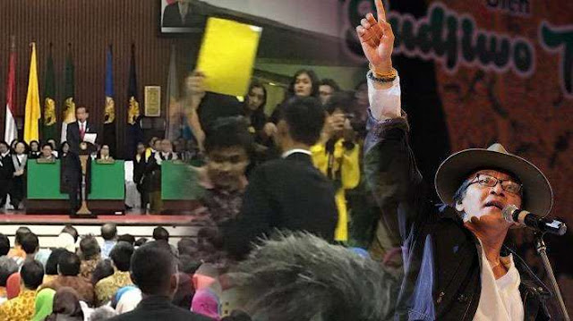 Tanggapi Insiden Kartu Kuning Ketua BEM UI Untuk Presiden Jokowi, Begini Sindiran Tajam Sujiwo Tedjo