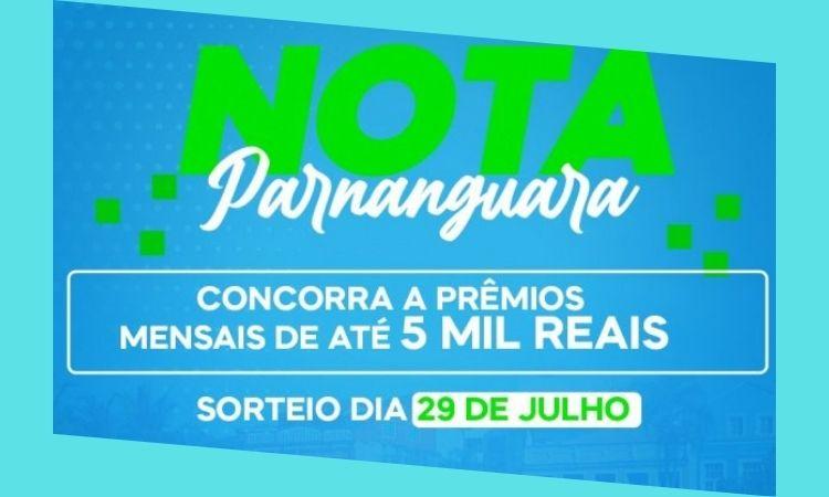 Prefeitura realiza sorteio de R$5 mil do Nota Parnanguara