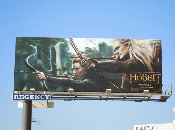 Hobbit Desolation of Smaug movie billboard