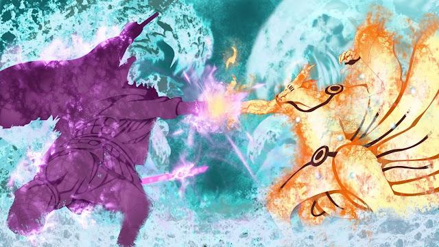 wallpaper hd naruto kyubi vs sasuke sunanoo