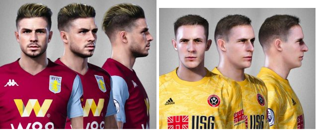 PES 2020 Dean Henderson and Jack Grealish Face by Alief