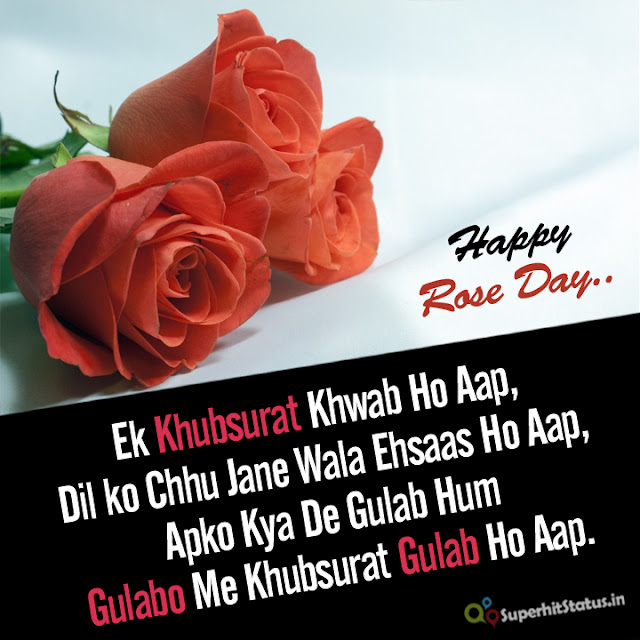 Rose Day Shayari With Wallpapers in Hindi