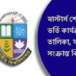 National University Masters Admission Result Merit List 2017 - Nu Edu BD