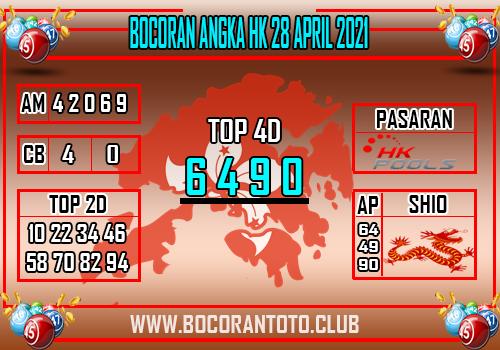 Bocoran Syair Hk 28 April 2021