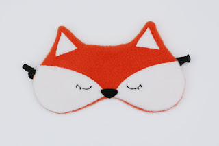 Orange Fox Sleep Mask, Fleece, Soft Pretty New