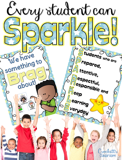 Every student can SPARKLE!  Want to make sure your classroom is a positive environment for kids!  You can, with these ideas and tips.