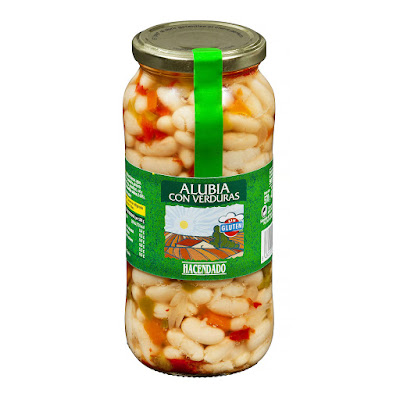 Alubia cocida con verduras Hacendado