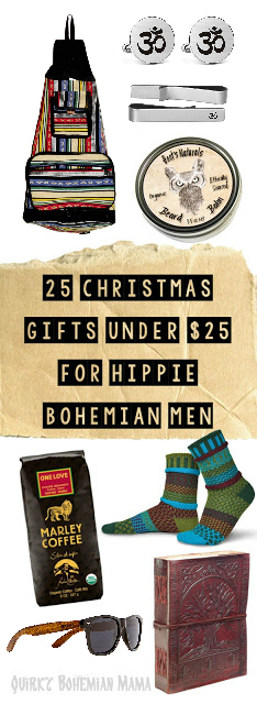 Gift guide for hippy and bohemian men. Christmas Gifts Under $25. 2018 Gift Guide for men. Affordable Christmas gifts. Eco-Friendly gifts under $25 sustainable gift ideas environmentalist gifts gifts for environmentally conscious people eco friendly gifts for him eco friendly business gifts gifts for environmental lovers gifts for the hippie in your life gifts for a hippie dad hippie christmas list gifts for old hippies gifts for a hippie boyfriend boho gift ideas bohemian gifts gifts for free spirits