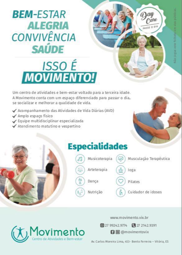 terceira idade - isso é movimento - bem-estar, alegria, convivência, saúde