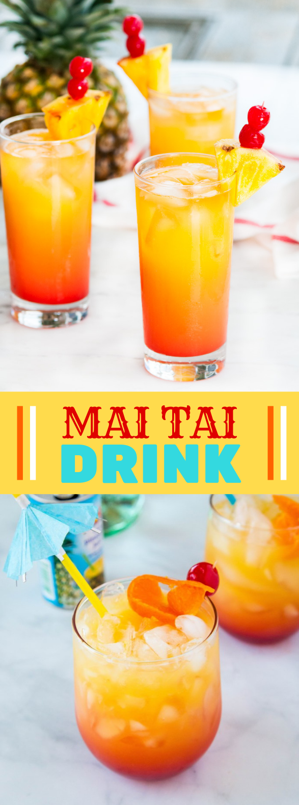 MAI TAI DRINK #mixeddrink #tropical