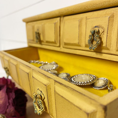 Upcycled Vintage Jewelry Chest Of Drawers