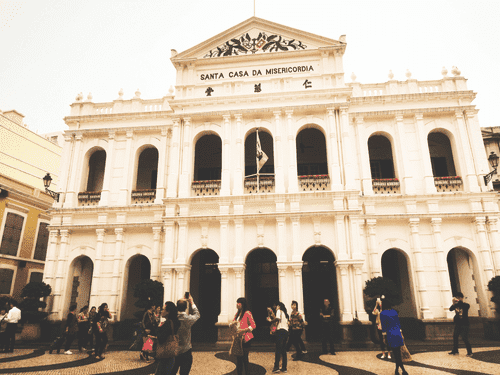Santa Casa da Misericordia at Largo do Senado in Macau