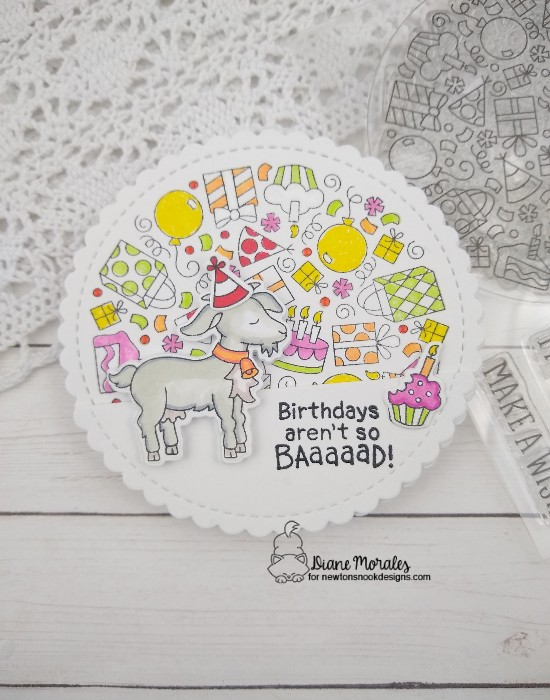 Birthdays aren't so baaaaad! by Diane features Bleat, Birthday Roundup, and Circle Frames by Newton's Nook Designs; #newtonsnook