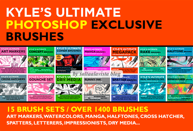 1445 Pinceles Exclusivos para Photoshop by Kyle Webster